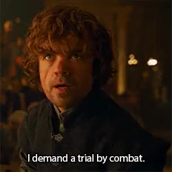 Watch and share Hunger Games Quote GIFs and Tyrion Lannister GIFs on Gfycat