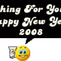 Watch and share Happy New Year 2008 animated stickers on Gfycat