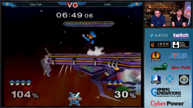 UFGTX - Linko (Luigi) Vs. Gary Oak (Marth) SSBM Pools - Smash Bros. Melee
