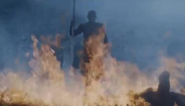 night king, Game Of Thrones 7x06: Daenerys Saves Jon Snow / Night King Kills Viserion [HD] GIFs
