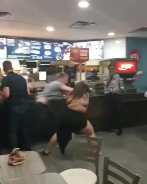 Watch Girl beats up guy in McDonald's 2018 GIF on Gfycat. Discover more MGTOW, feminism, mcdonalds GIFs on Gfycat