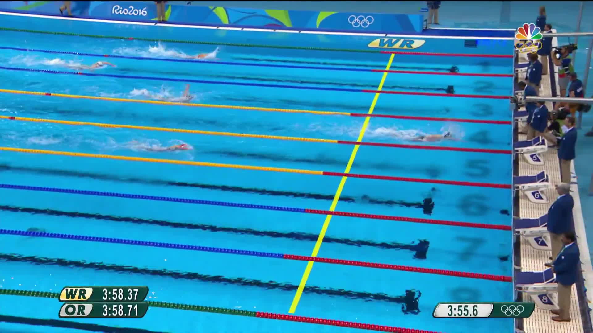 nbc sports, olymgifs, olympics, Ledecky shatters own world record in 400m freestyle gold win GIFs