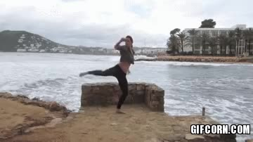 Watch and share Martial Arts Girl Hit Kicks With Extremespeed In The Air - Gif Corn GIFs on Gfycat