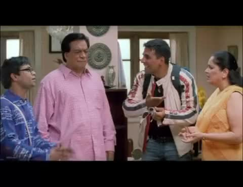 Watch and share Akshay Kumar Fools Kader Khan & Rajpal Yadav - Mujhse Shadi Karogi - Comedy Scene GIFs on Gfycat
