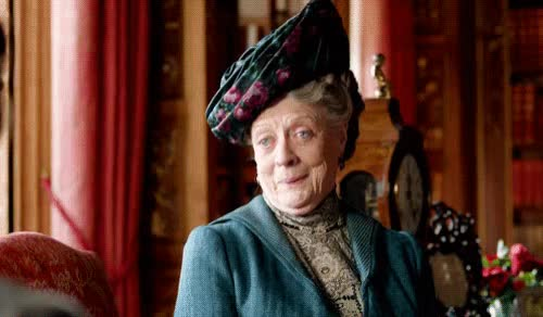 Watch and share Violet Crawley GIFs and Downton Abbey GIFs by Reactions on Gfycat