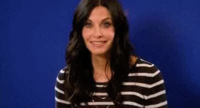 weird odd courteney cox awkward GIF
