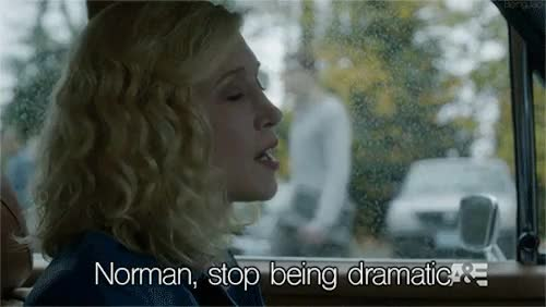 Watch this drama GIF on Gfycat. Discover more A&E, Alfred Hitchcock, Bates Motel, Drama, Dramatic, Freddie Highmore, Norma Bates, Norman Bates, Psycho, Season 3, TV, Vera Farmiga, a&e, alfred hitchcock, bates motel, drama, dramatic, freddie highmore, norma bates, norman bates, psycho, season 3, tv, vera farmiga GIFs on Gfycat