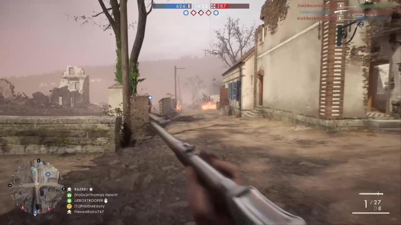 battlefield, battlefield_one, bf1, xbox, Battlefield One - Flametrooper TrenchRaider Combo Kill GIFs