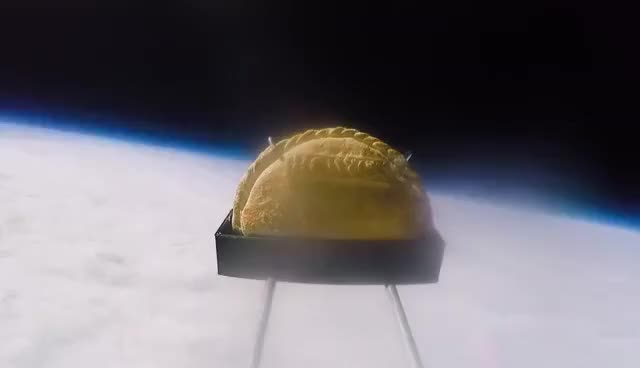 Watch and share First Cornish Pasty Launched Into Space GIFs on Gfycat