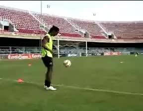 Watch and share Ronaldinho Jogando A Bola Tres Vezes Na Trave GIFs on Gfycat