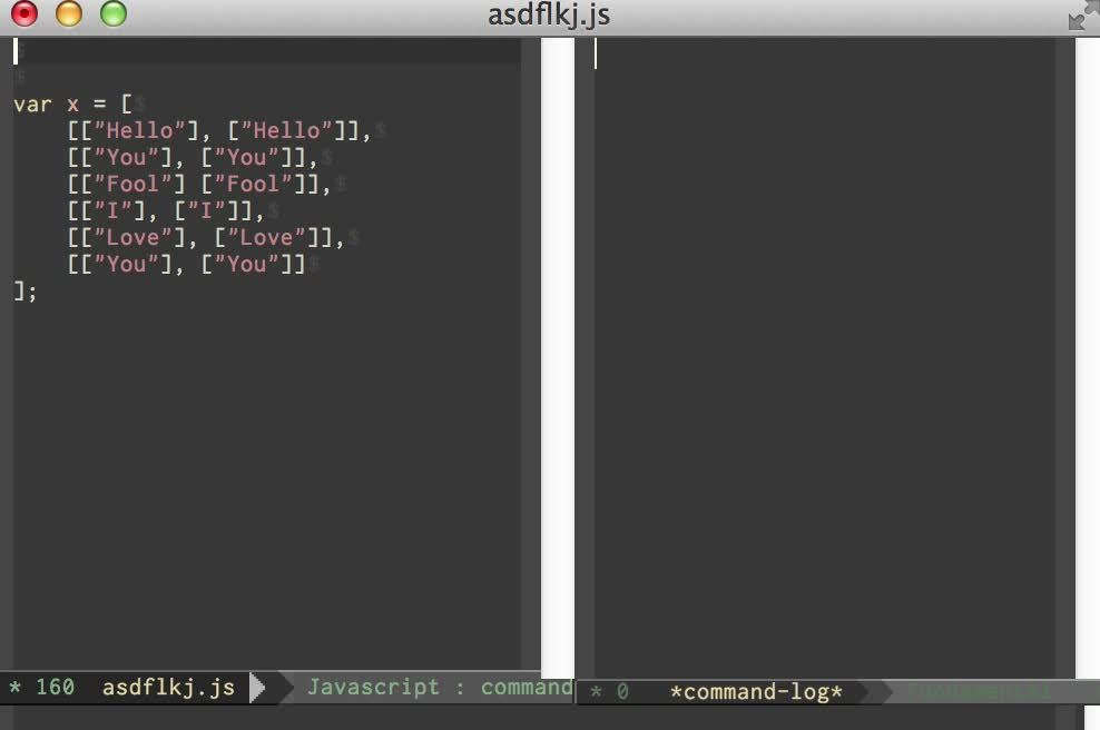 javascript, multiple-cursors, programming, multiple cursors vert align emacs GIFs