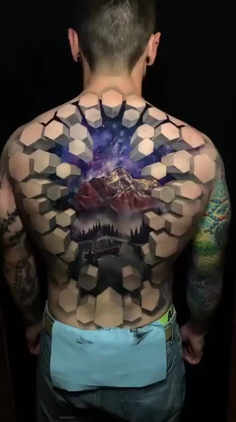 Watch and share This Unsettling But Amazing 3D Tattoo! GIFs by GIFs For Everything on Gfycat