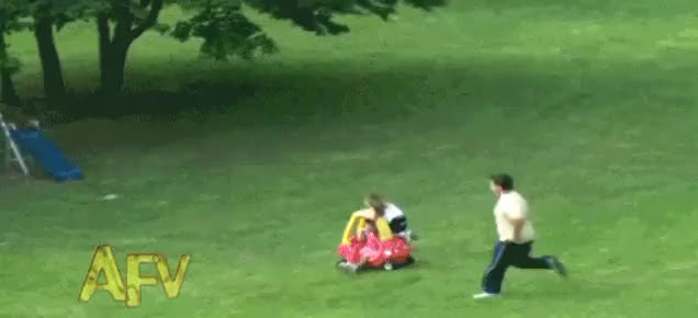 Watch Dad outruns a runaway Cozy Coupe to save a child in its path. (reddit) GIF on Gfycat. Discover more dadreflexes GIFs on Gfycat