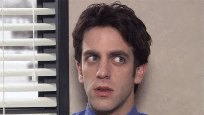 b. j. novak, ko confused ryan office GIFs