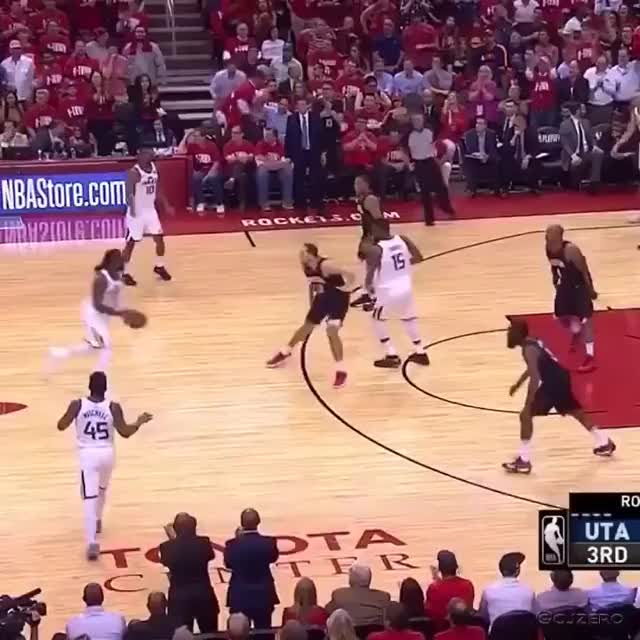 Harden - Crowder Double Flop  (Utah Jazz vs Houston Rocket Game 2 NBA PLAYOFF SEMI)