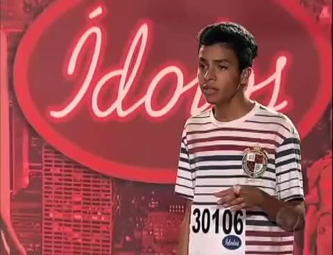 Watch and share Ídolos 2012 Thyago Delfino Diverte Jurados Com Timbre Raro Em Voz Masculina. GIFs on Gfycat