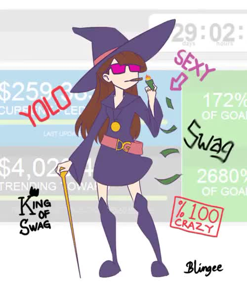 Watch and share Kagari Akko GIFs and Kickstarter GIFs on Gfycat