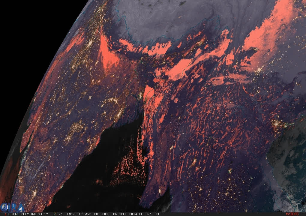 2016/12/21 - Pollution over India and Bangladesh - Geocolor HTML5 Loop | Animated GIF | MP4 Video GIFs