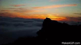 Watch Haleakala National Park, Maui, Hawaii | Sunrise Timelapse GIF on Gfycat. Discover more related GIFs on Gfycat