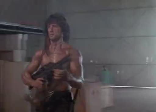 rambo, sylvester stallone, Rambo hates computers GIFs
