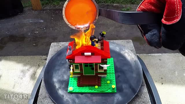 Watch Molten Copper vs Lego House GIF on Gfycat. Discover more aluminum casting, burning, copper GIFs on Gfycat