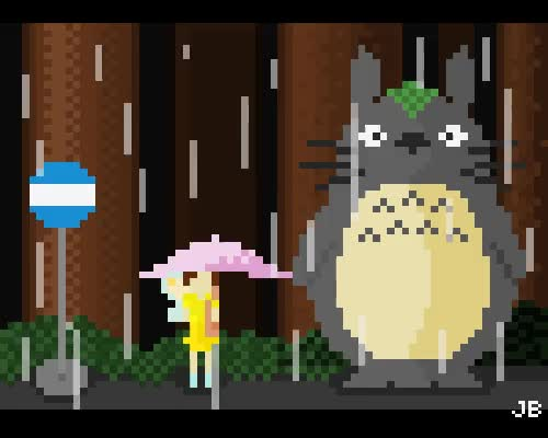 Watch and share Totoro Pixelart GIFs on Gfycat