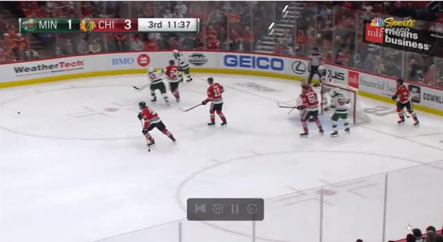 Watch Saad break GIF on Gfycat. Discover more Chicago Blackhawks, Minnesota Wild, hockey GIFs on Gfycat