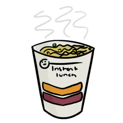 Watch lunch GIF on Gfycat. Discover more animated gif, animation, art, digital art, fueled by ramen, gif, instant lunch, maruchan, noodles, photoshop, ramen GIFs on Gfycat