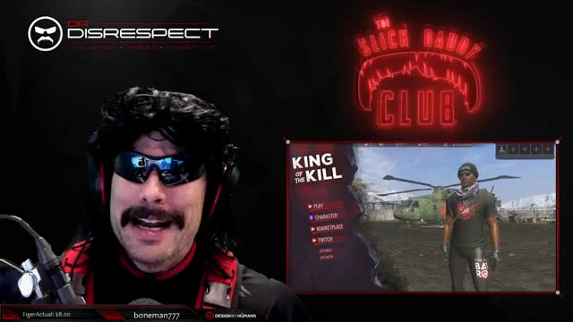 Dr.Disrespect takes his glasses off!