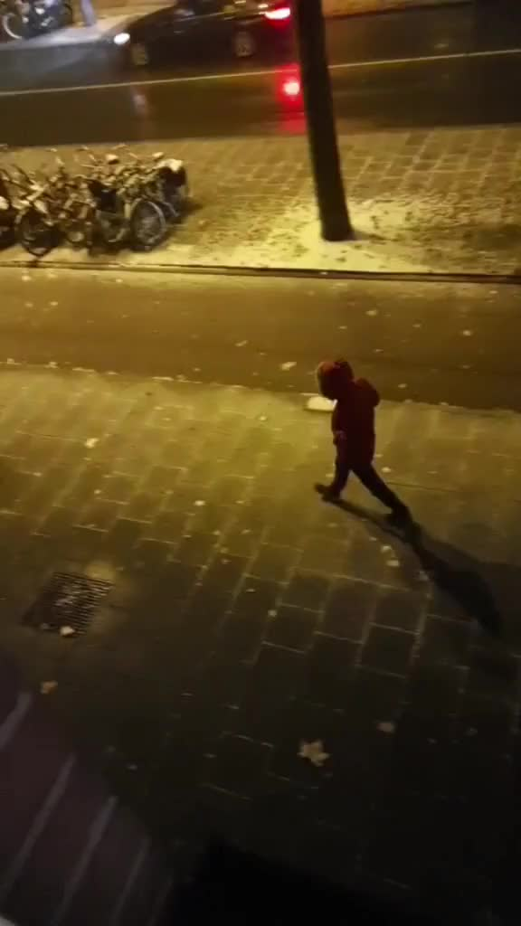 OMG guy's i can't believe i actually did that (he doesn't know im filming😱) #crazy #snow #1:48 #night snow night crazy GIF