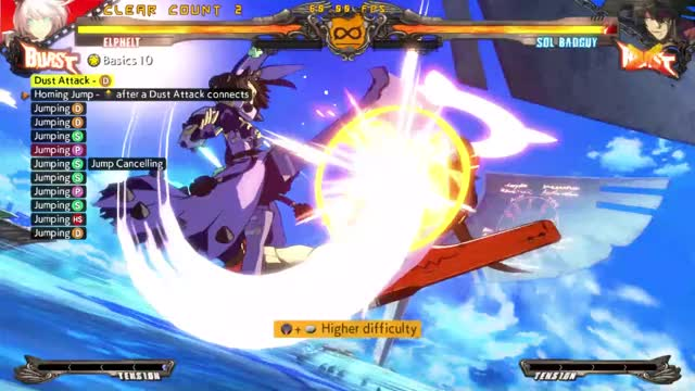"Watch Elphelt ""Basic"" Combo GIF by @waffledealer on Gfycat. Discover more related GIFs on Gfycat"