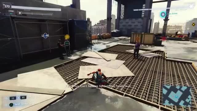 Watch and share Spidey Iron Arms GIFs by aprettydullusername on Gfycat