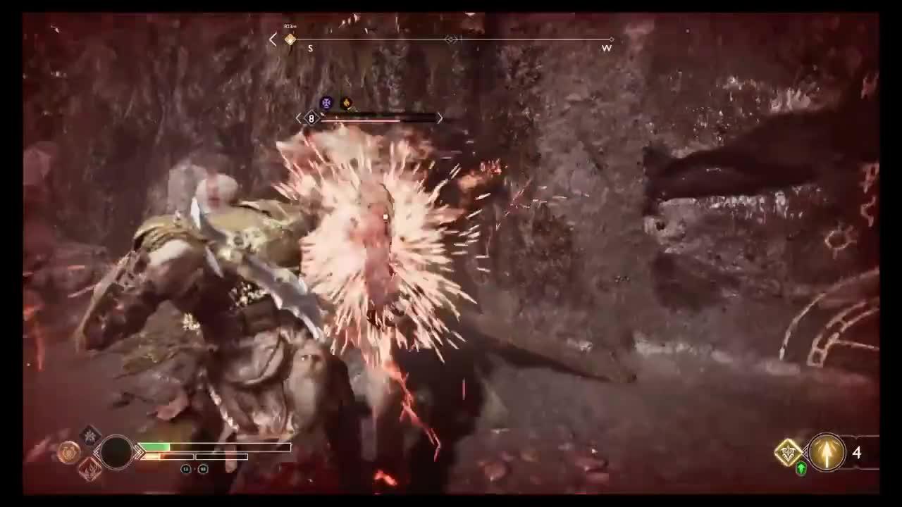 GamePlay, GodofWar, Kratos, PS4Share, atreus, handsome_giant, Atreus Jumps Off of Kratos's Back GIFs