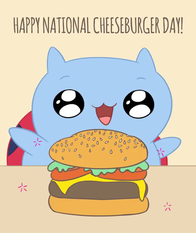 Watch and share Cheeseburger Day GIFs and Mcdonalds GIFs by Cartoon Hangover on Gfycat