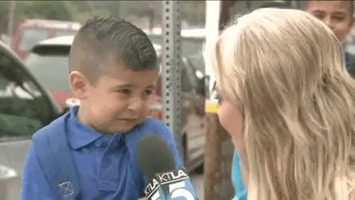 Watch Entertainment Tonight GIF on Gfycat. Discover more back to school, crying, miss your mom, no, reporter, so cute, too cute, viral video, yeeessss GIFs on Gfycat