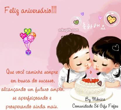 Watch and share Feliz Aniversario Que Voce Caminhe Sempre Em Busca Do Sucesso GIFs on Gfycat