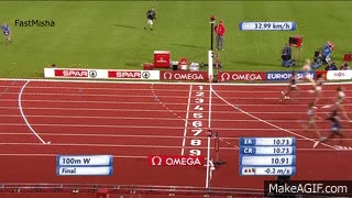 Watch and share Dafne Schippers Wins 100m Final - European Athletics Championships 2016 GIFs on Gfycat