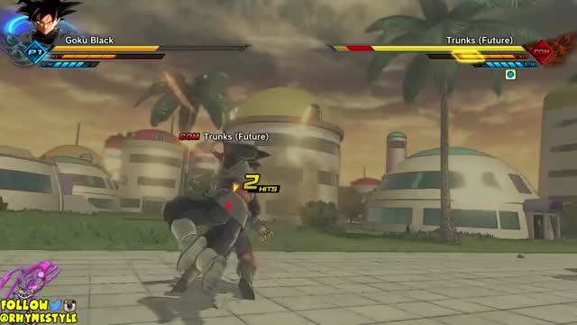 Super Black Kamehameha! Goku Black Gameplay & Training Mode Showcase! | Dragon Ball Xenoverse 2