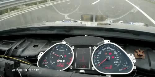 Watch and share The Acceleration Of This VW Golf With An Audi RS6's Turbo V10 Is Ridiculous GIFs on Gfycat