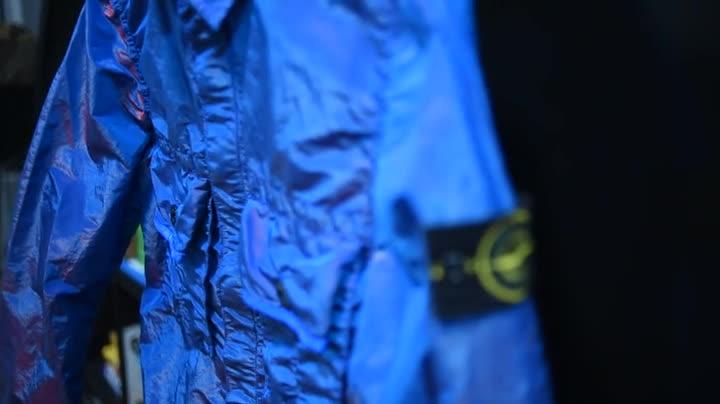 HighEndStreetwear, malefashion, streetwear, Stone Island's SS17 Nylon Metal Color Weft Overshirt GIFs
