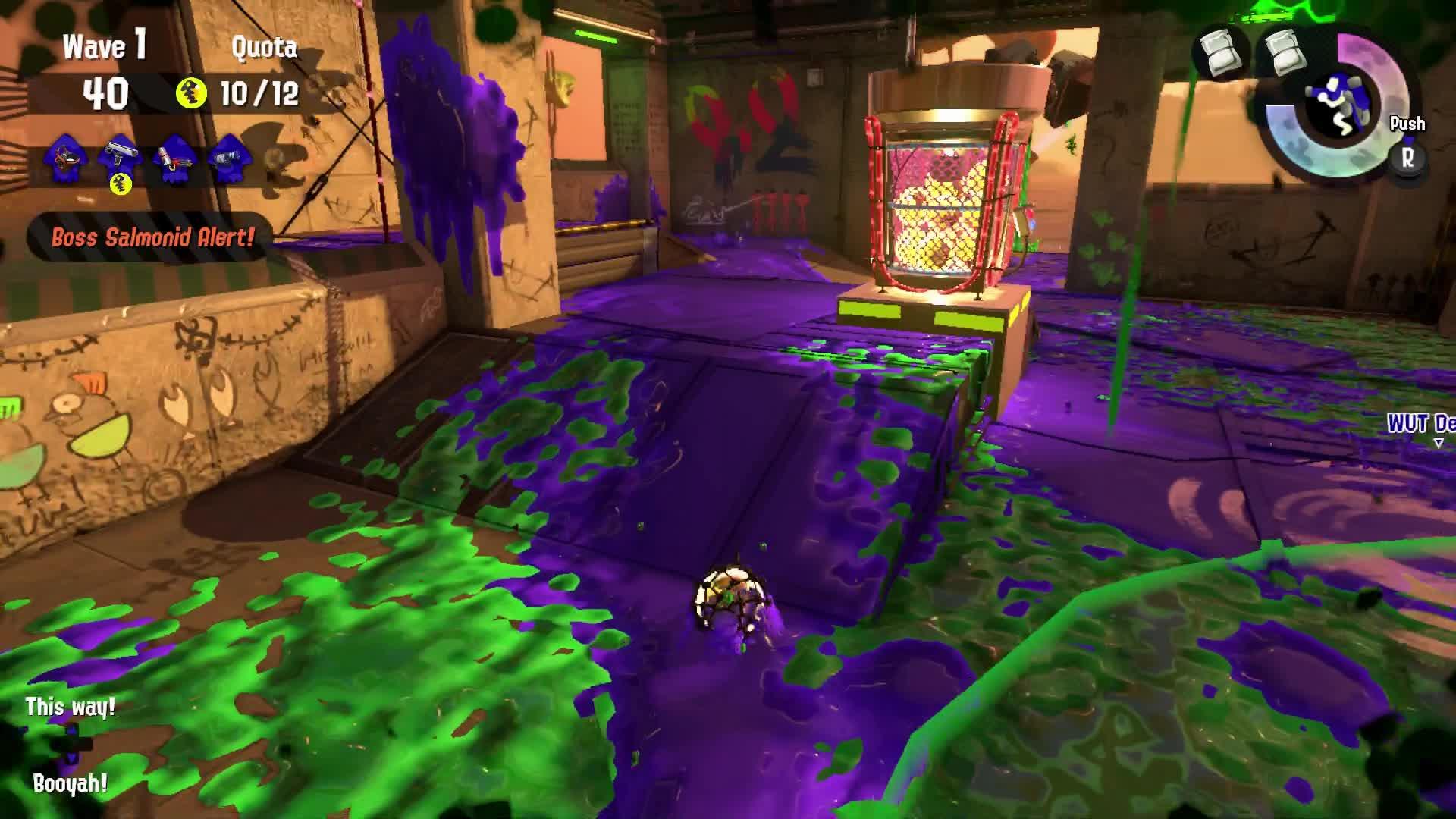 Splatoon 2, Flyfish trick shot GIFs