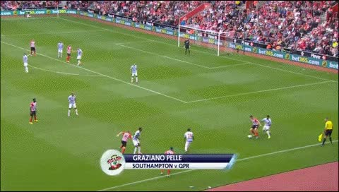 Watch and share Graziano Pelle. Southampton - QPR. 2014-15 GIFs by fatalali on Gfycat