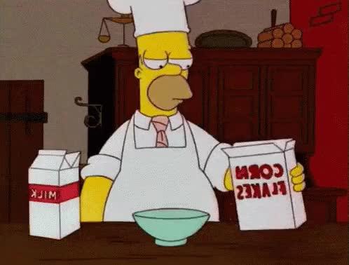 Watch and share Homero Quema La Comida GIFs on Gfycat