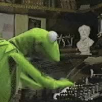 Watch kermit funny typing working GIF on Gfycat. Discover more related GIFs on Gfycat