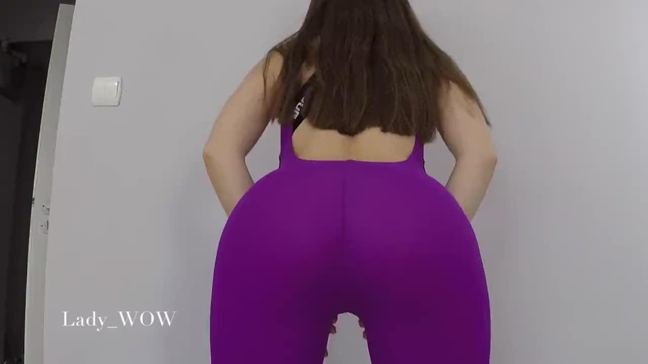 Purple Yoga Pants Showing Off