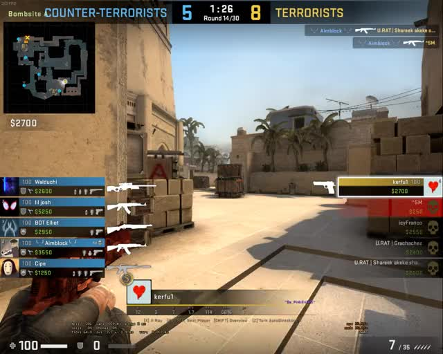 Watch and share Csgo 1v5 Mirage GIFs on Gfycat