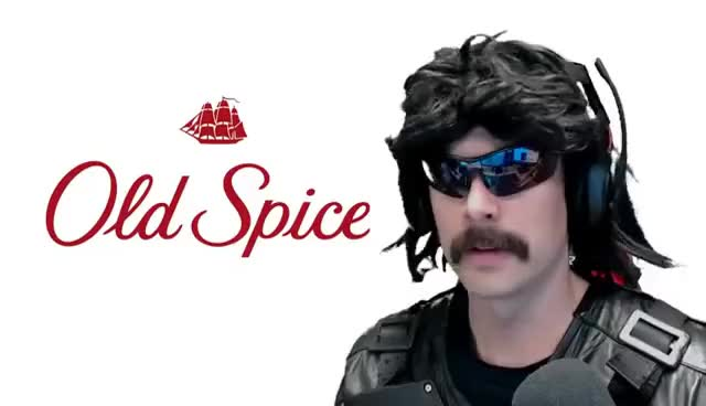 DrDisrespect showing how to use OLDSPICE!