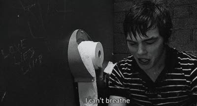 Watch and share Black And White I Can't Breathe Gif GIFs on Gfycat
