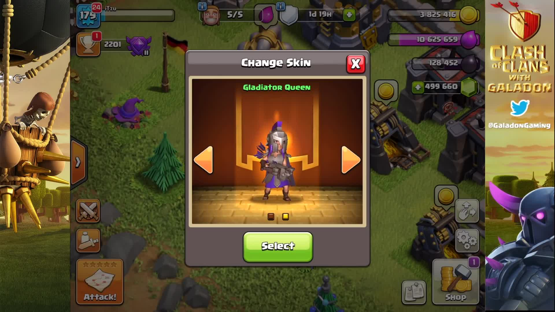 archer queen, clash of clans archer queen, clash of clans gladiator archer queen, clash of clans leak, clash of clans sneak peek, clash of clans update, galadon clash of clans, galadon gaming, gladiator archer queen skin, new archer queen skin, Gladiator Archer Queen Skin - Gold Pass 2 Reward GIFs