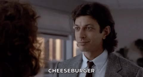 Watch and share Jeff Goldblum GIFs and Cheeseburger GIFs on Gfycat